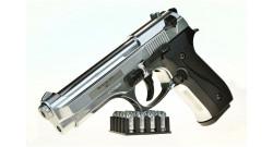 Пистолет охолощенный B92 KURS хром к.10ТК