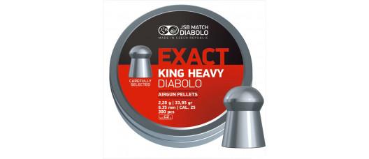 Пуля пневм.  JSB Exact King Heavy 6.35мм 2,2гр (300шт)
