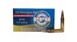 Нар.патроны PPU .223Rem MATCH HP BT 4,47g