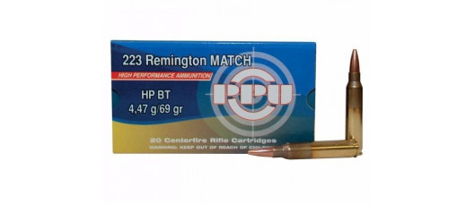 Нар.патроны PPU .223Rem MATCH HP BT 4,47g