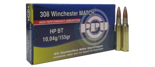 Нар.патроны PPU .308Win MATCH HP BT 10,04g