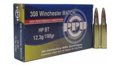 Нар.патроны PPU .308Win MATCH HP BT 12,3g