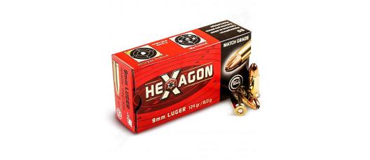 Нар.патроны Geco 9x19 Para Hexagon 124gr