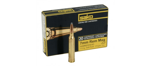 Sako 7mm RemMag SP Hammerhead 11g/170gr