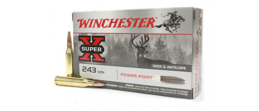 Нар.патроны Winchester .243Win Sup-X Power Point 100gr