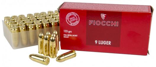 Fiocchi 9mm Luger FMJ 123gr