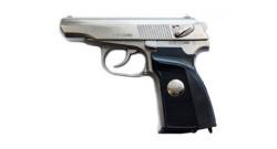 Пистолет МР-80-13Т никель Герб к.45Rubber