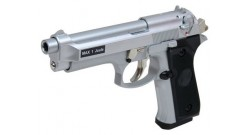 Пистолет софтэйр M 92F Silver грин газ, кал. 6мм
