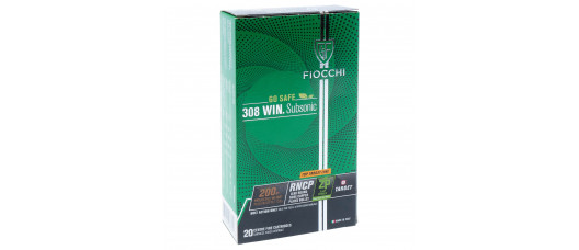Fiocchi .308Win Subsonic RNCP 200gr 13g