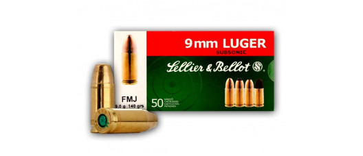S&B 9x19 Luger FMJ Subsonic